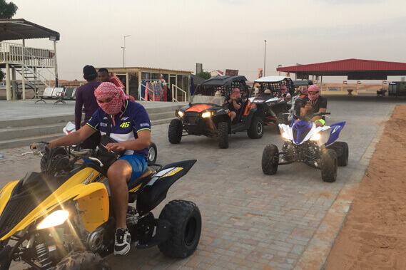 Yamaha Raptor Tour Dubai | Quad bike - Motorcycle Dubai